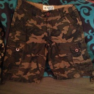 rustic blue Bottoms - Boys camo cargo shorts
